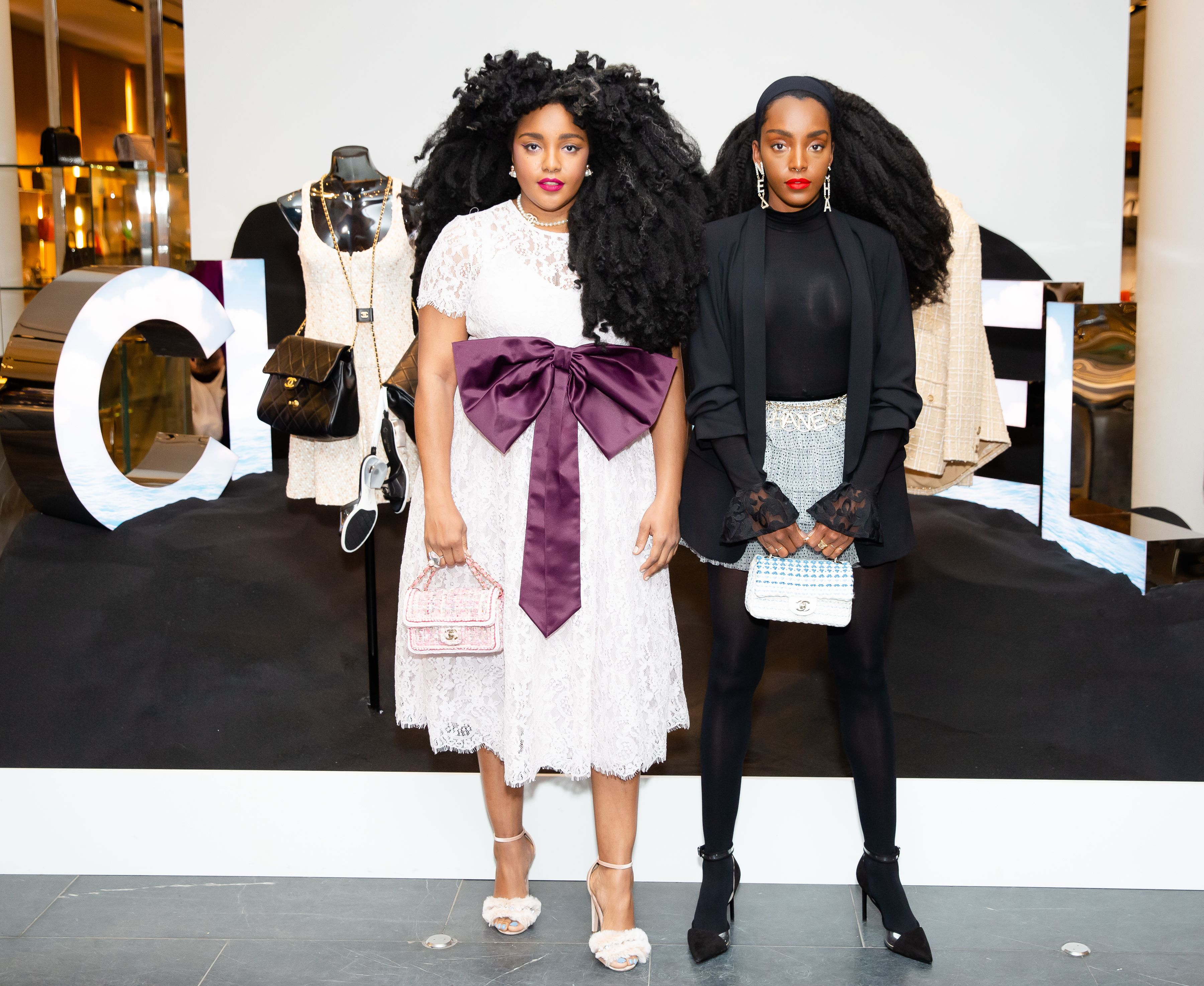 Cipriana Quanna and TK Wonder Cipriana Quanna and TK Wonder attend the cocktail and dinner party to celebrate the opening of Chanel's new boutique at Barneys New York on April 3.