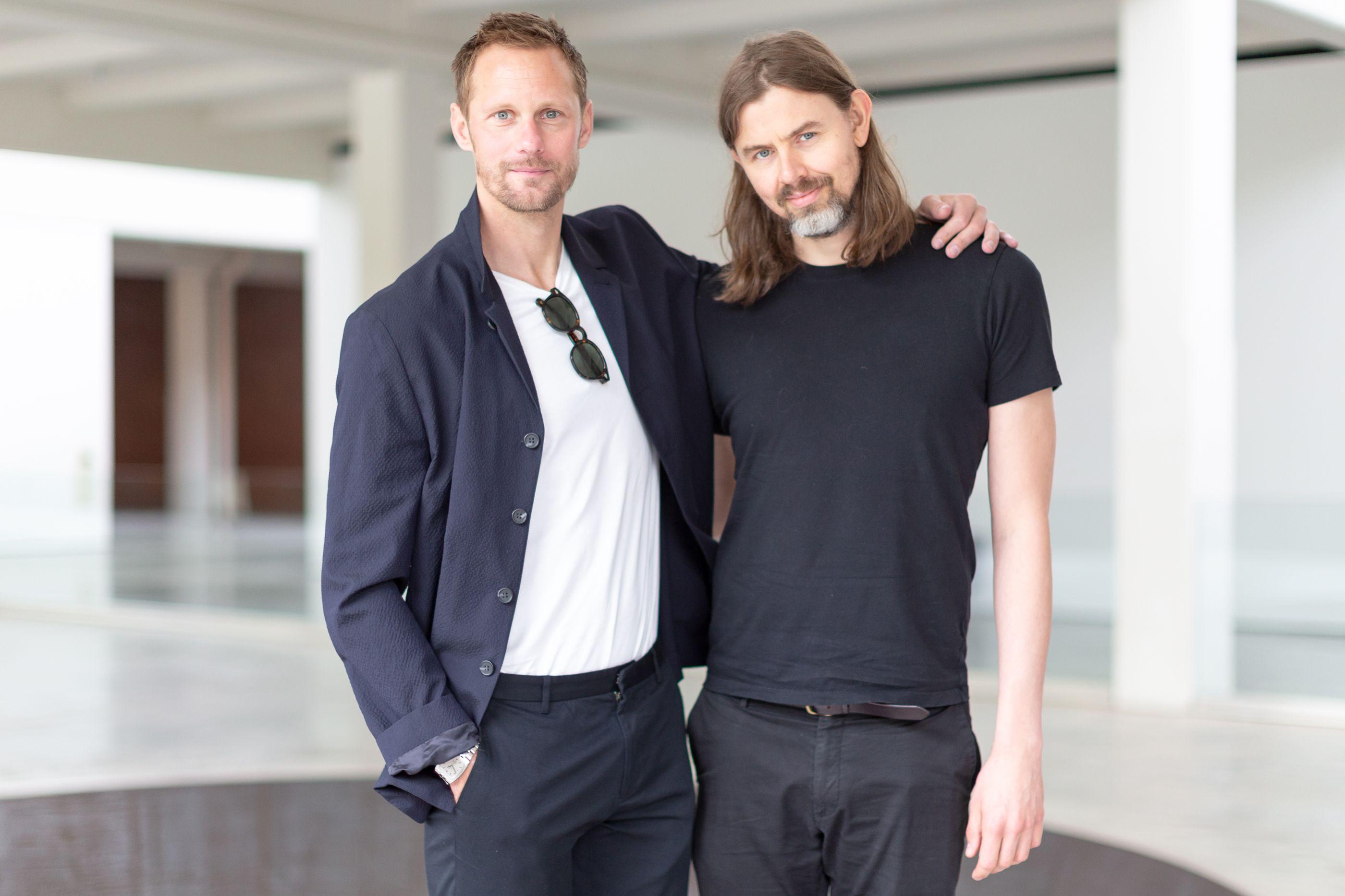 Alexander Skarsgård and Siggi Hilmarsson at the 2019 Dia:Beacon Spring Benefit.