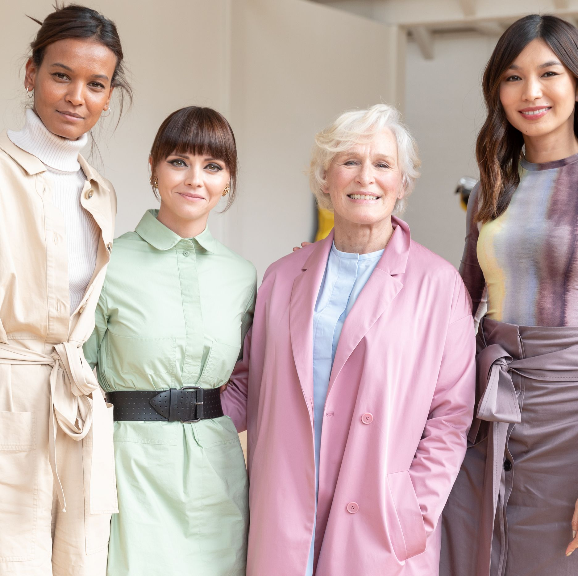 Glenn Close , Christina Ricci , Gemma Chen, and the model Liya Kebede convened on Saturday in Beacon, New York, 90 miles north of Manhattan, for the annual spring benefit organized by the Dia Art Foundation . There were a lot of well-dressed art folk, philanthropists and go-gooders, and press milling about, but these four women, standing together in varying shades of pastel by the label COS, stood out like a fabulous network of fashionable Avengers.