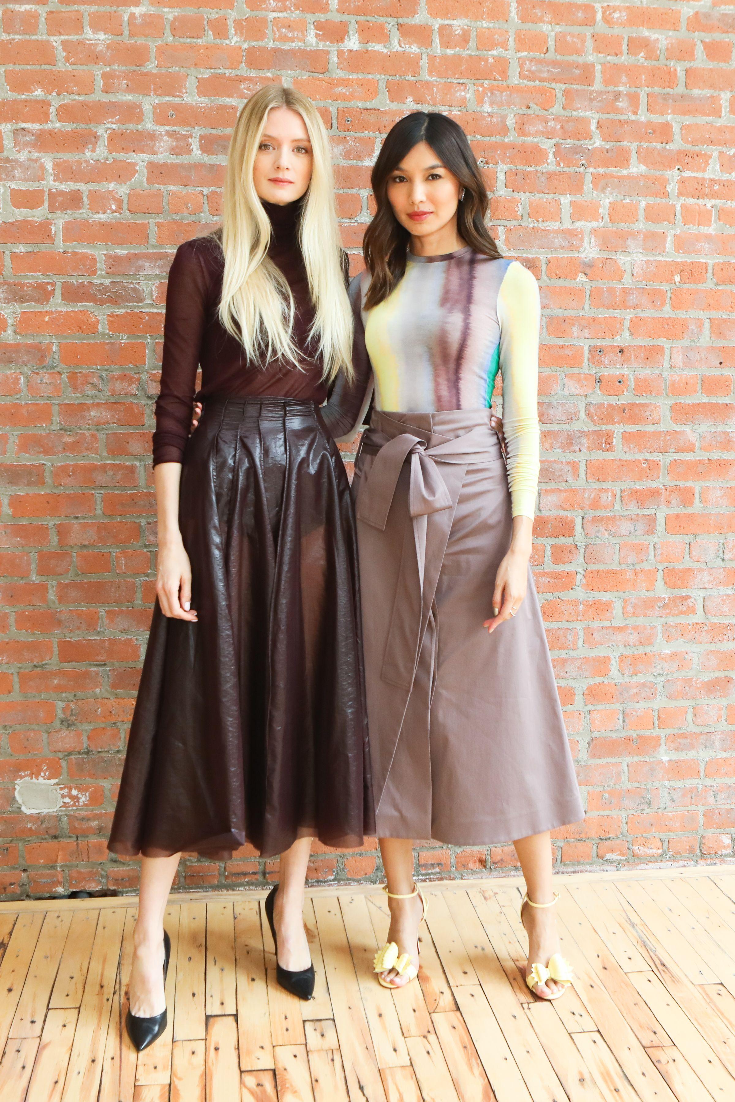 Rebecca Corbin-Murray and Gemma Chan at the 2019 Dia:Beacon Spring Benefit.