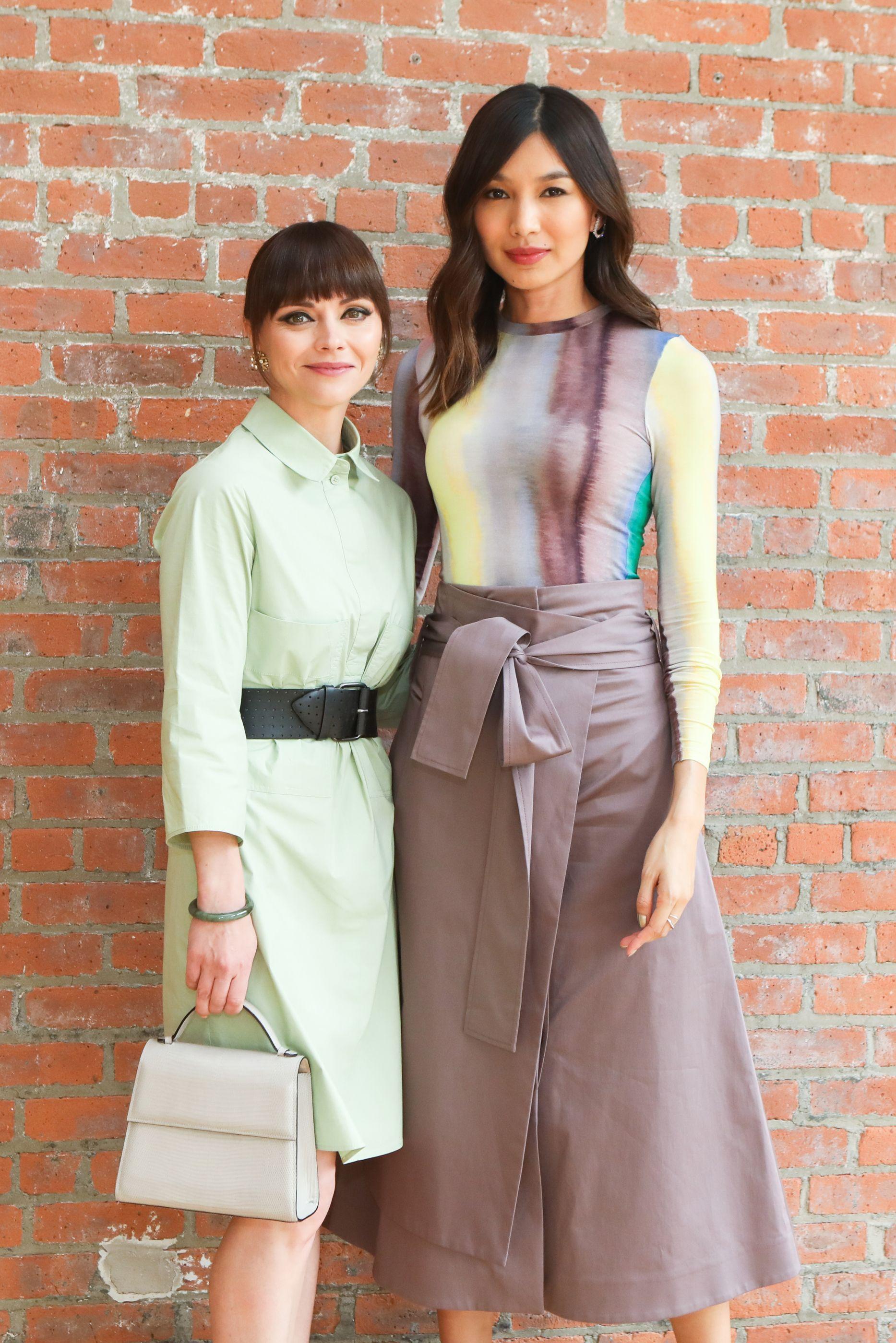 Christina Ricci and Gemma Chan at the 2019 Dia:Beacon Spring Benefit.