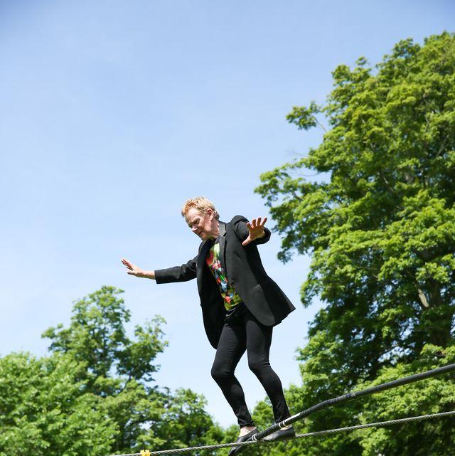People in nature, Slacklining, Tree, Fun, Rope, Recreation, Leisure, Jumping, Adventure, Plant,