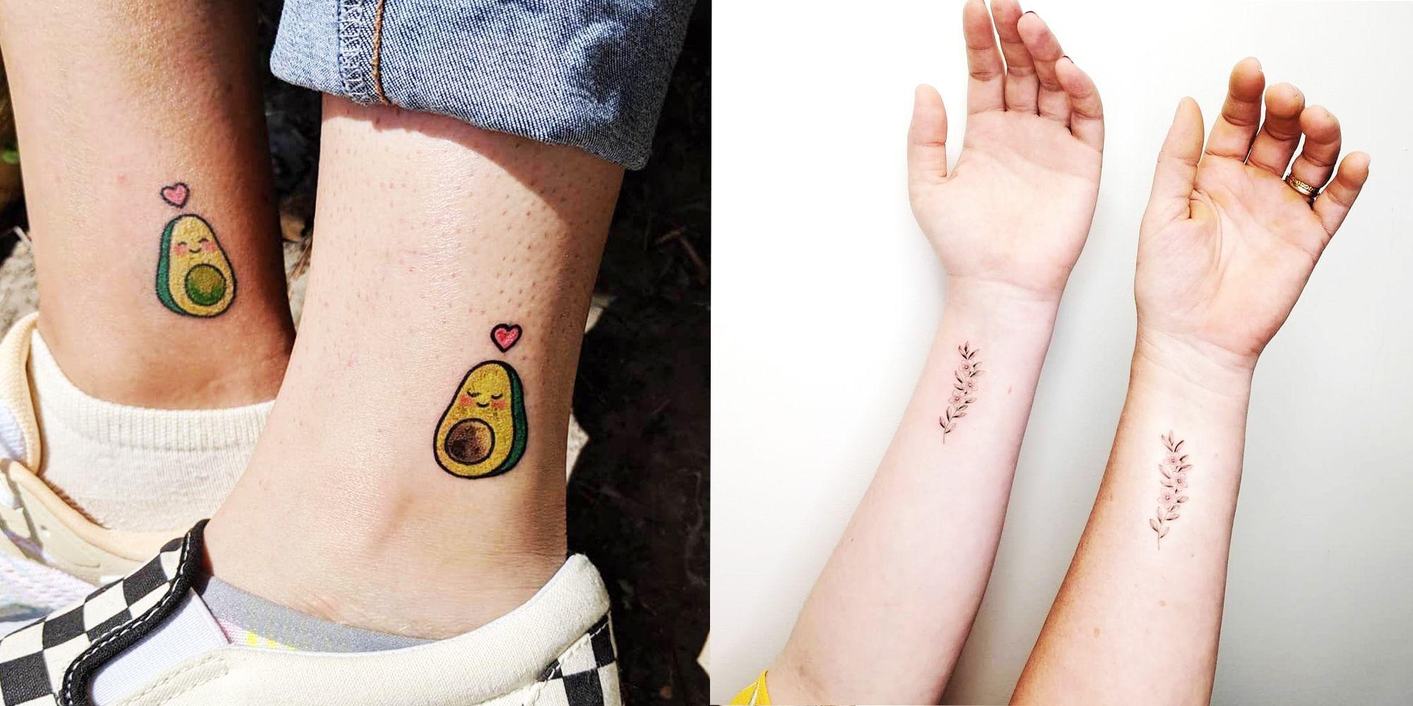 28 Best Friend Matching Tattoo Ideas , Cute Matching Tattoos