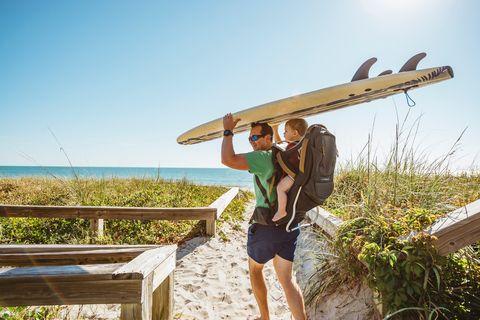 Surfboard, Summer, Vacation, Surfing Equipment, Landscape, Shorts, Wood, Travel, Leisure, Airplane,