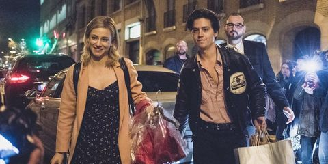 cole sprouse and lili reinhart confirm they re dating with kiss