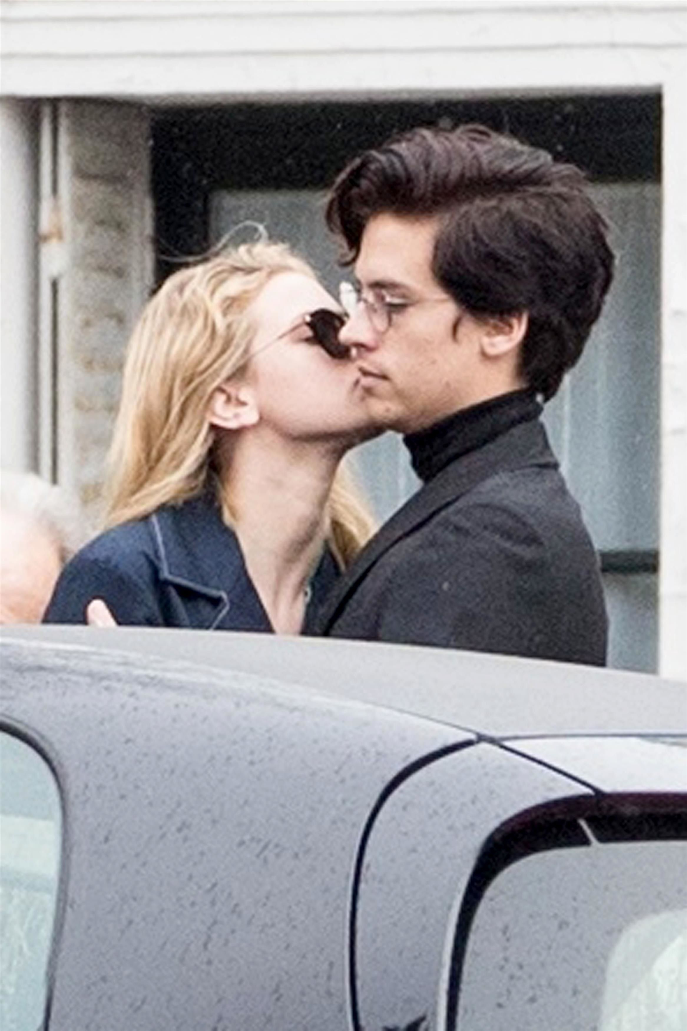 Lili Reinhart and Cole Sprouse in Paris
