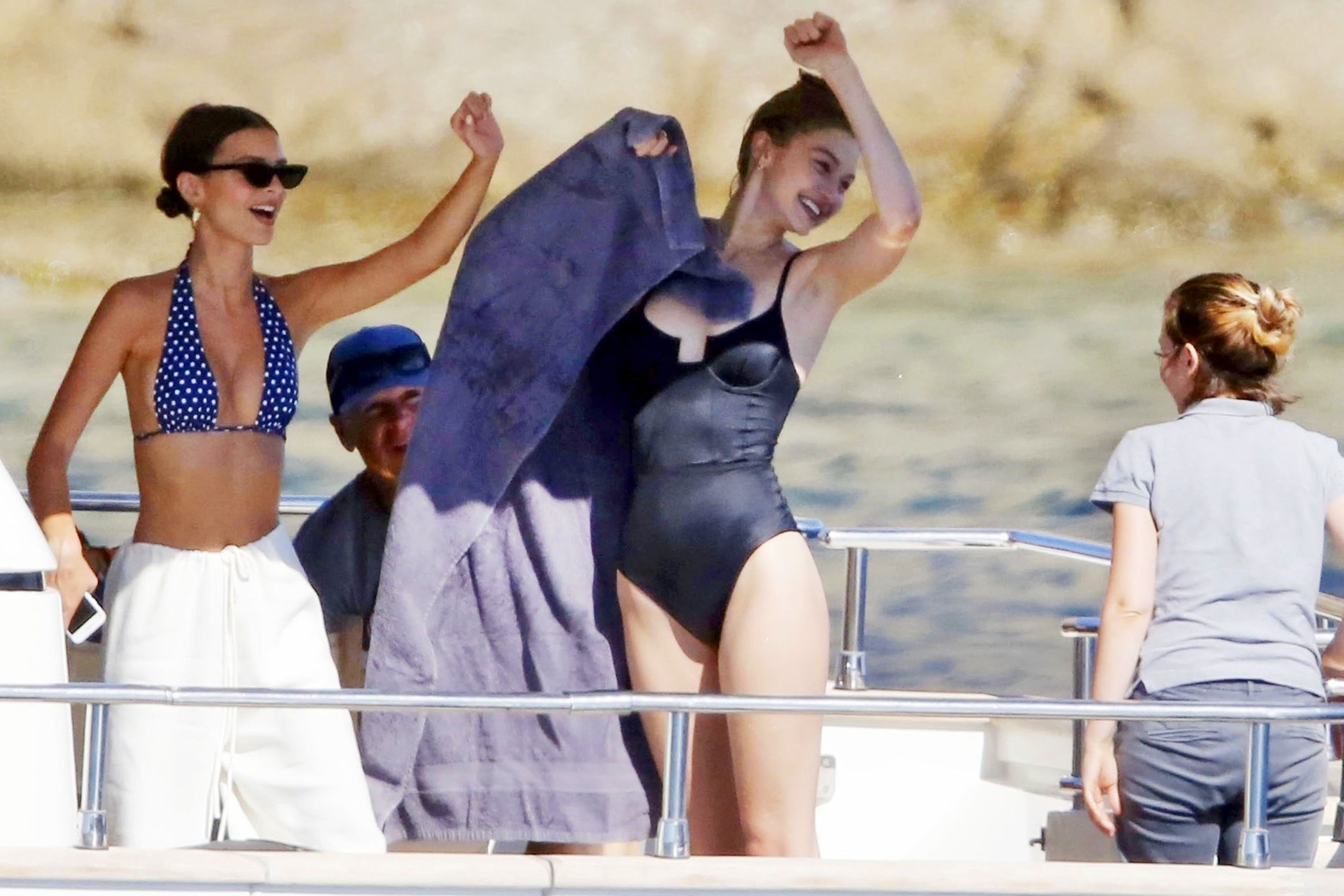 40bc0e2ed6 Stars in Sexy Bathing Suits - Celebrities in One-Piece Swimsuits