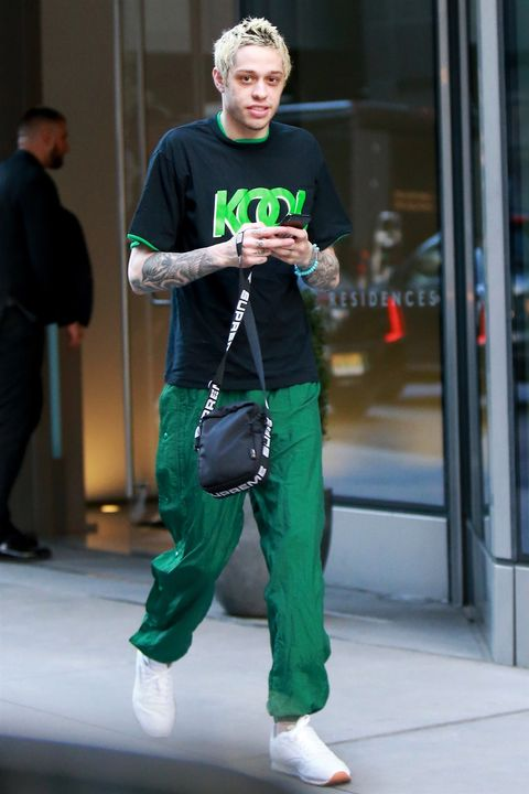 Pete Davidson Wears Long Sleeves And Pants In New York