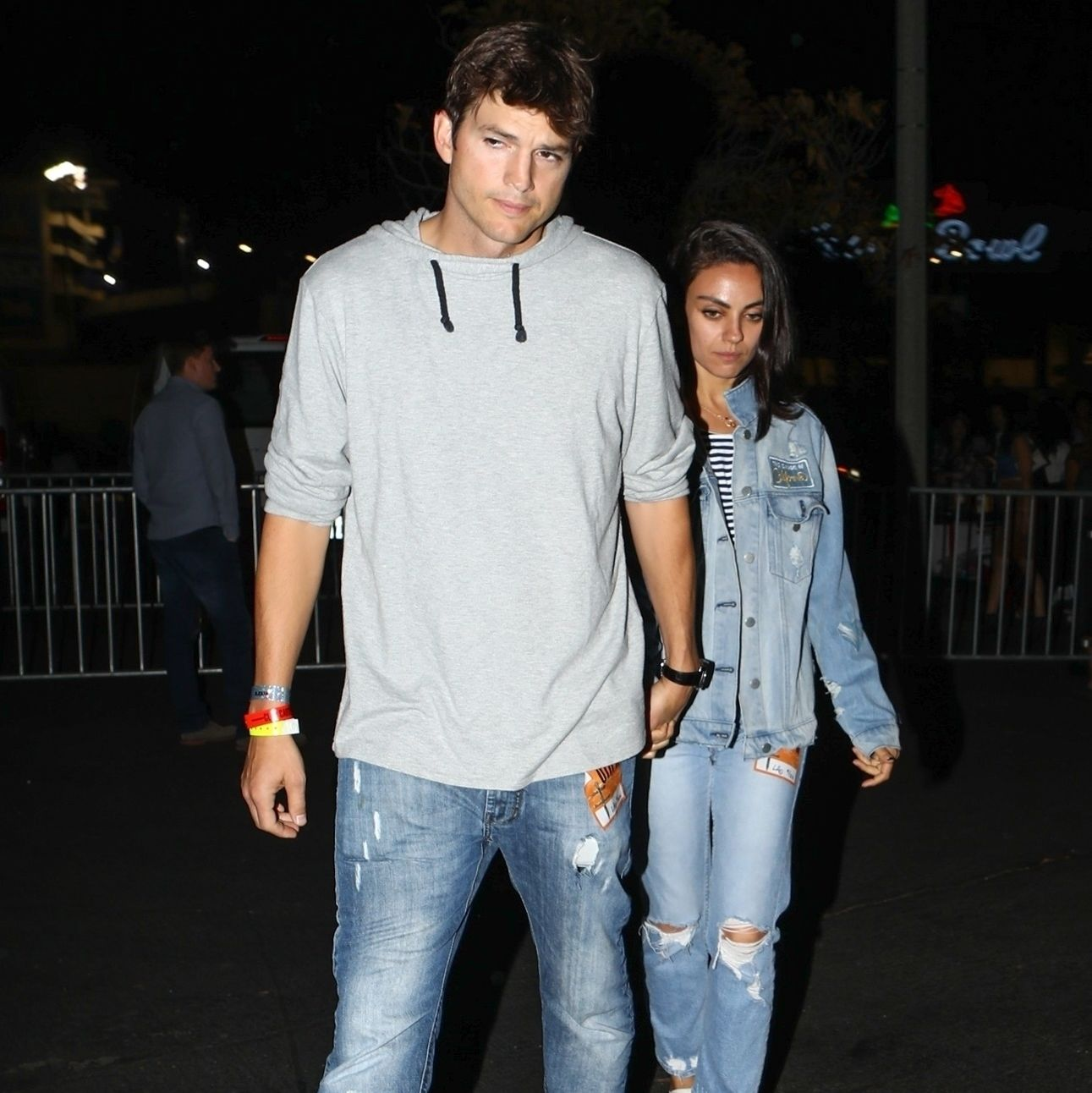 Brittany and justin were dating and matching their denim outfits