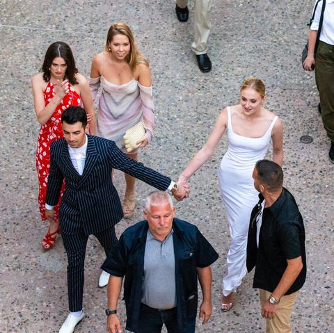 See Sophie Turner S Pre Wedding Party Dress Sophie Wears Bridal Dress With Joe Jonas
