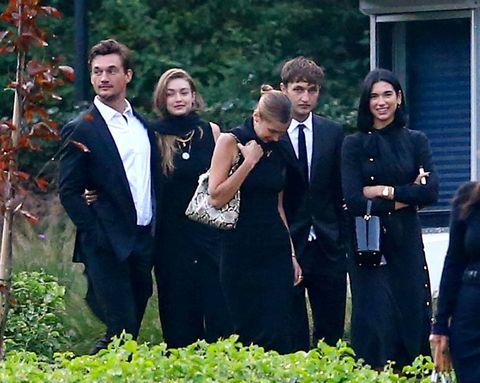 Tyler Cameron, Gigi Hadid, Dua Lipa, and Anwar Hadid