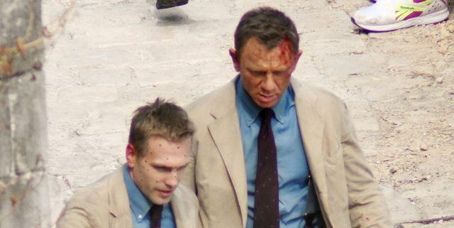 Daniel Craig's Bond and His 'No Tie to Die' Stuntman Both Know a Khaki Suit Is Always a Good Idea