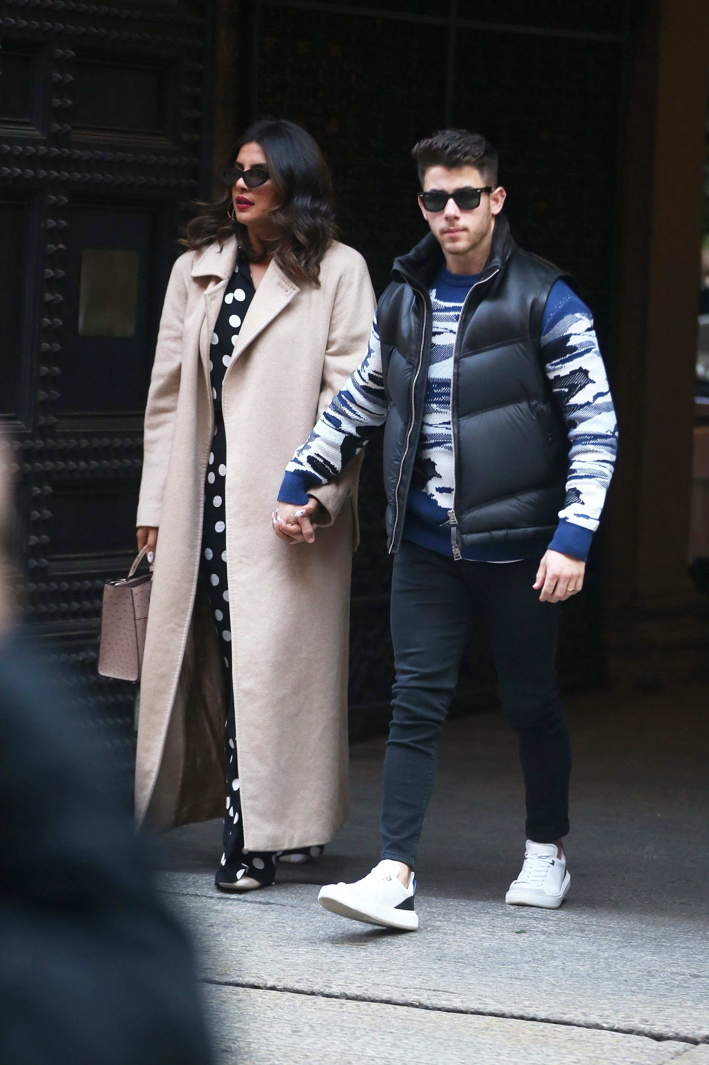 Of Course Priyanka Chopra and Nick Jonas Matched in Black for Their Valentine's Day Date