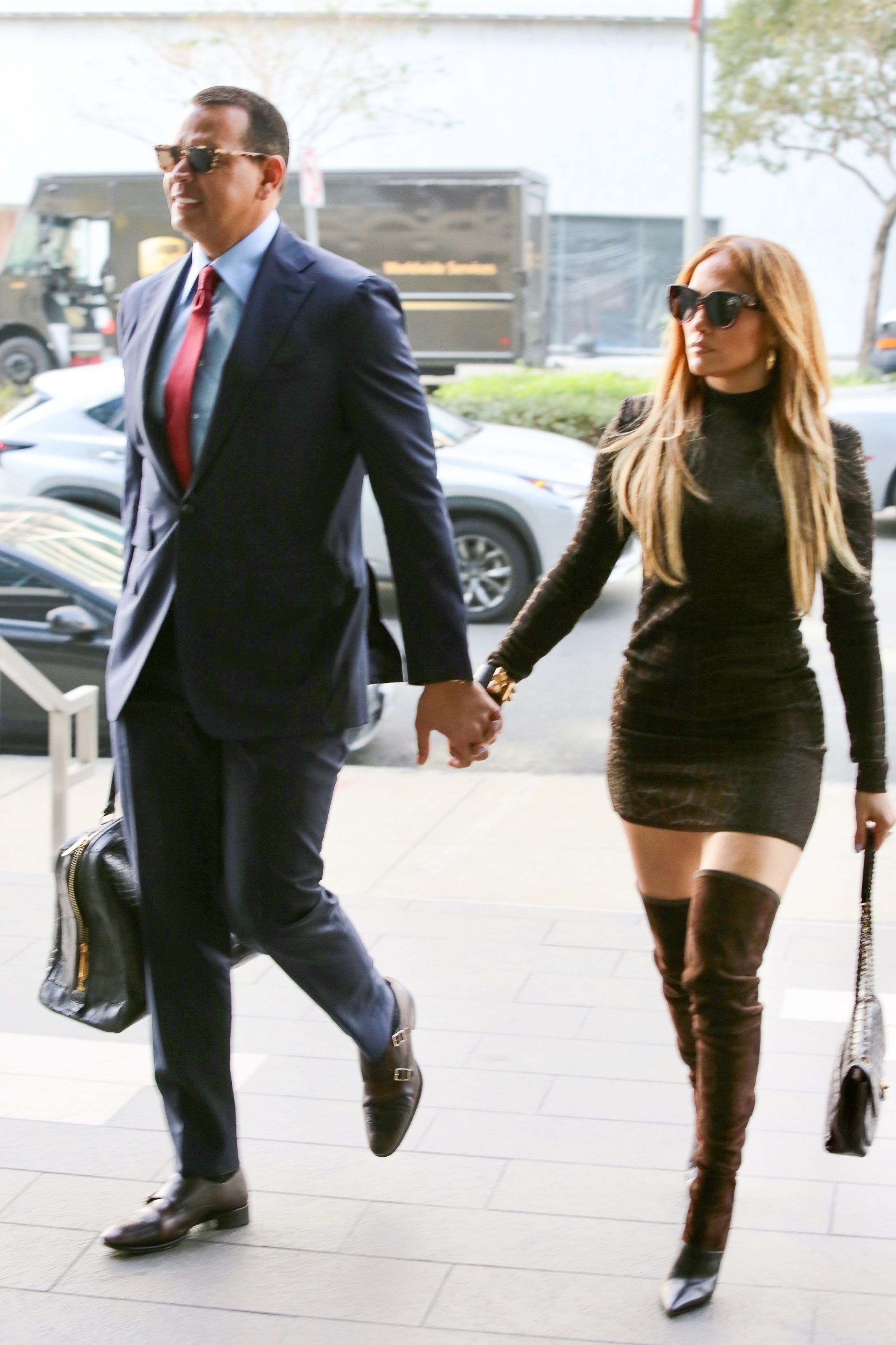 Here's Jennifer Lopez and Alex Rodriguez Dressed Like the Hot Power Couple They Are
