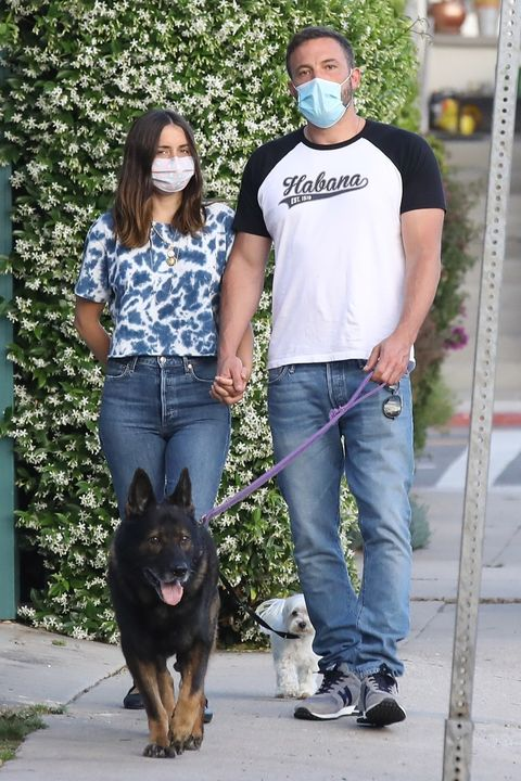 ben and ana walk their dogs