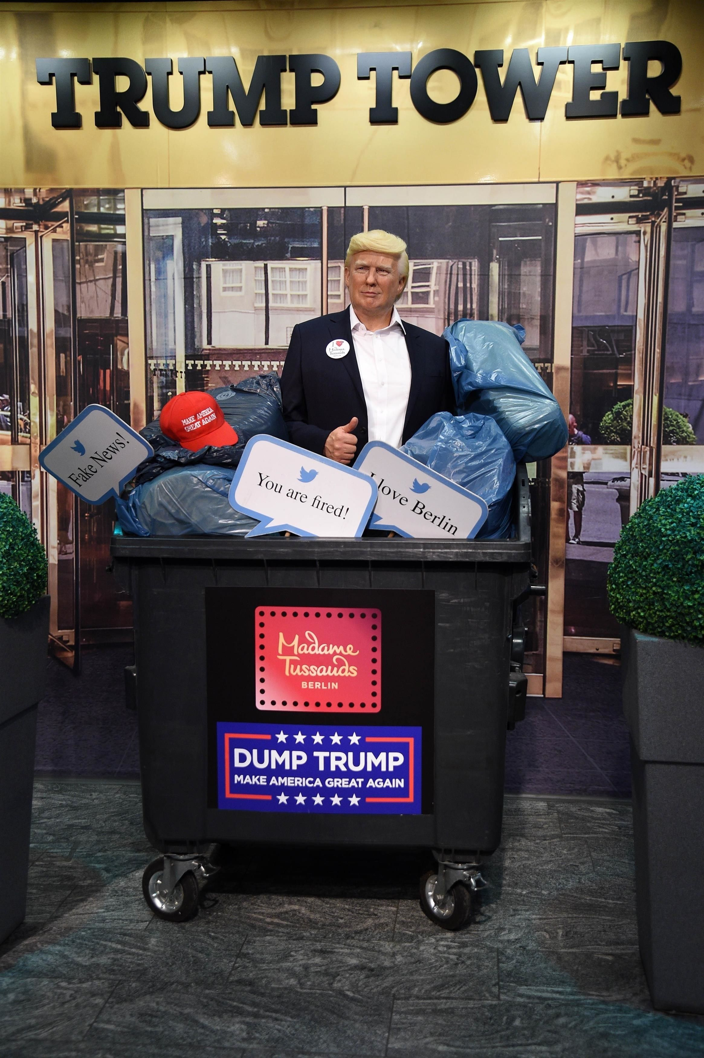 Madame Tussauds Threw Its Donald Trump Wax Figure in a Literal Dumpster