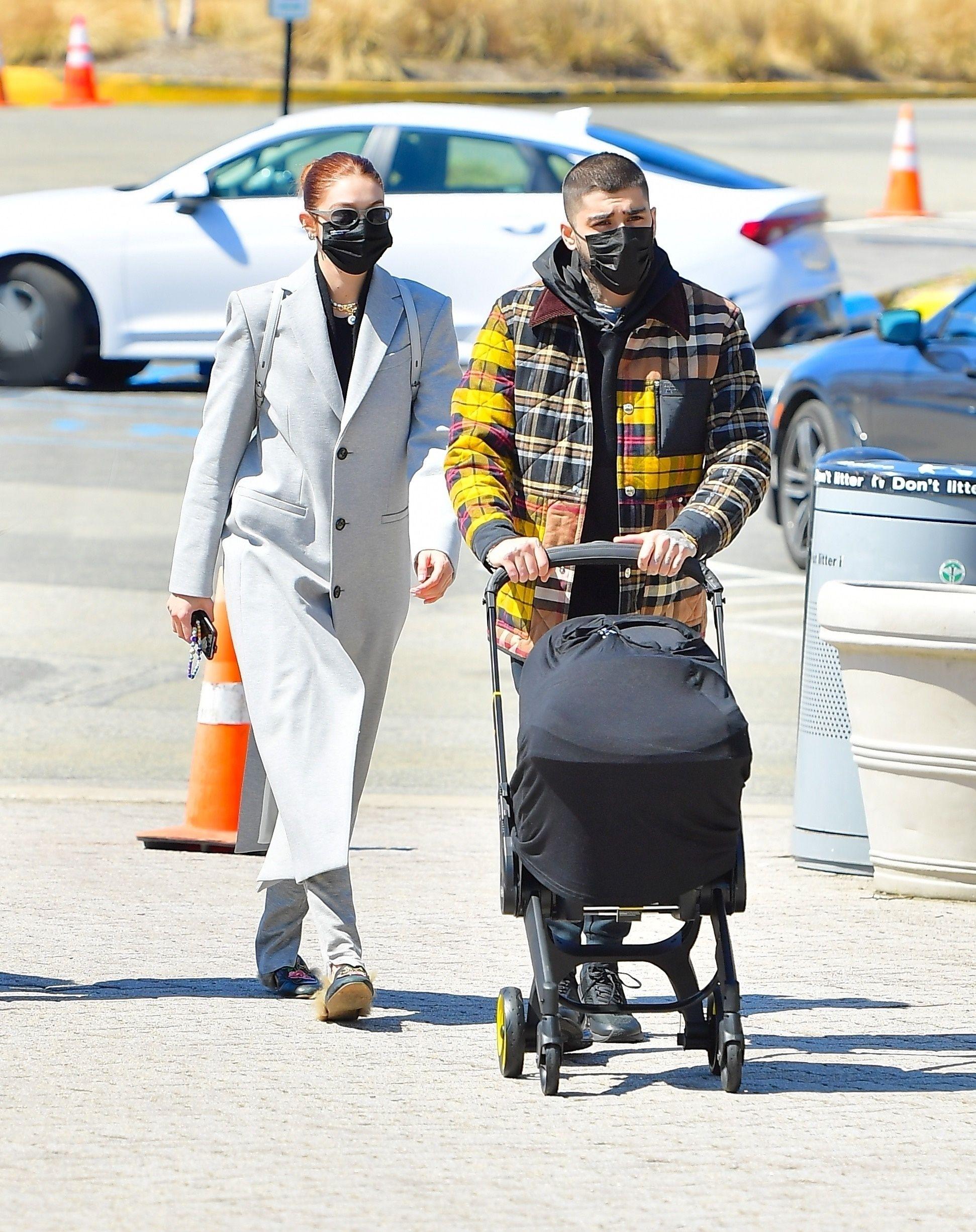 Gigi Hadid and Zayn Malik Step Out with Baby Khai for a Chic Aquarium Visit