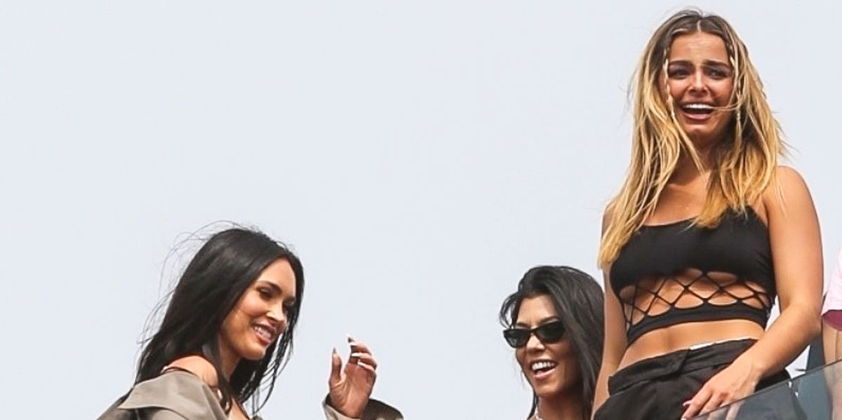 Addison Rae Shows Underboob in Crop Top While Hanging Out With Kourtney Kardashian and Megan Fox