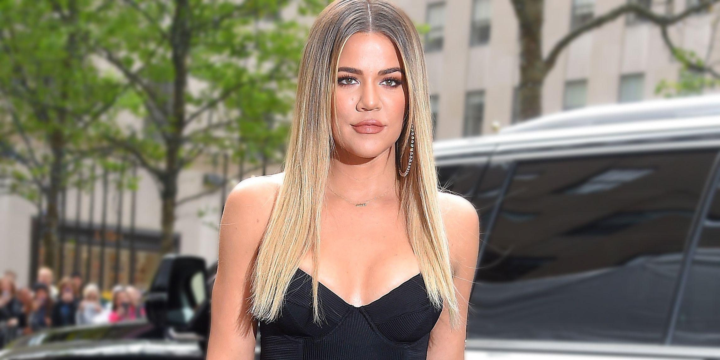 Khloe Kardashian straight hair
