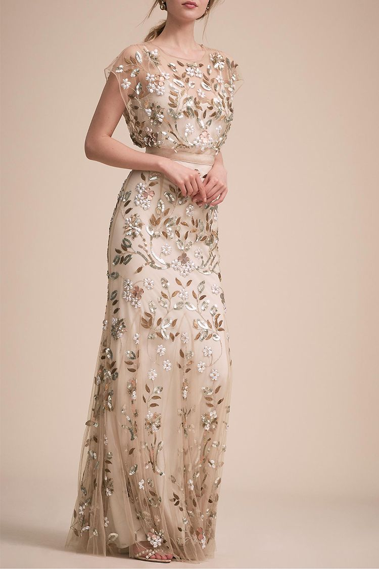 bhldn flourishing vines gown