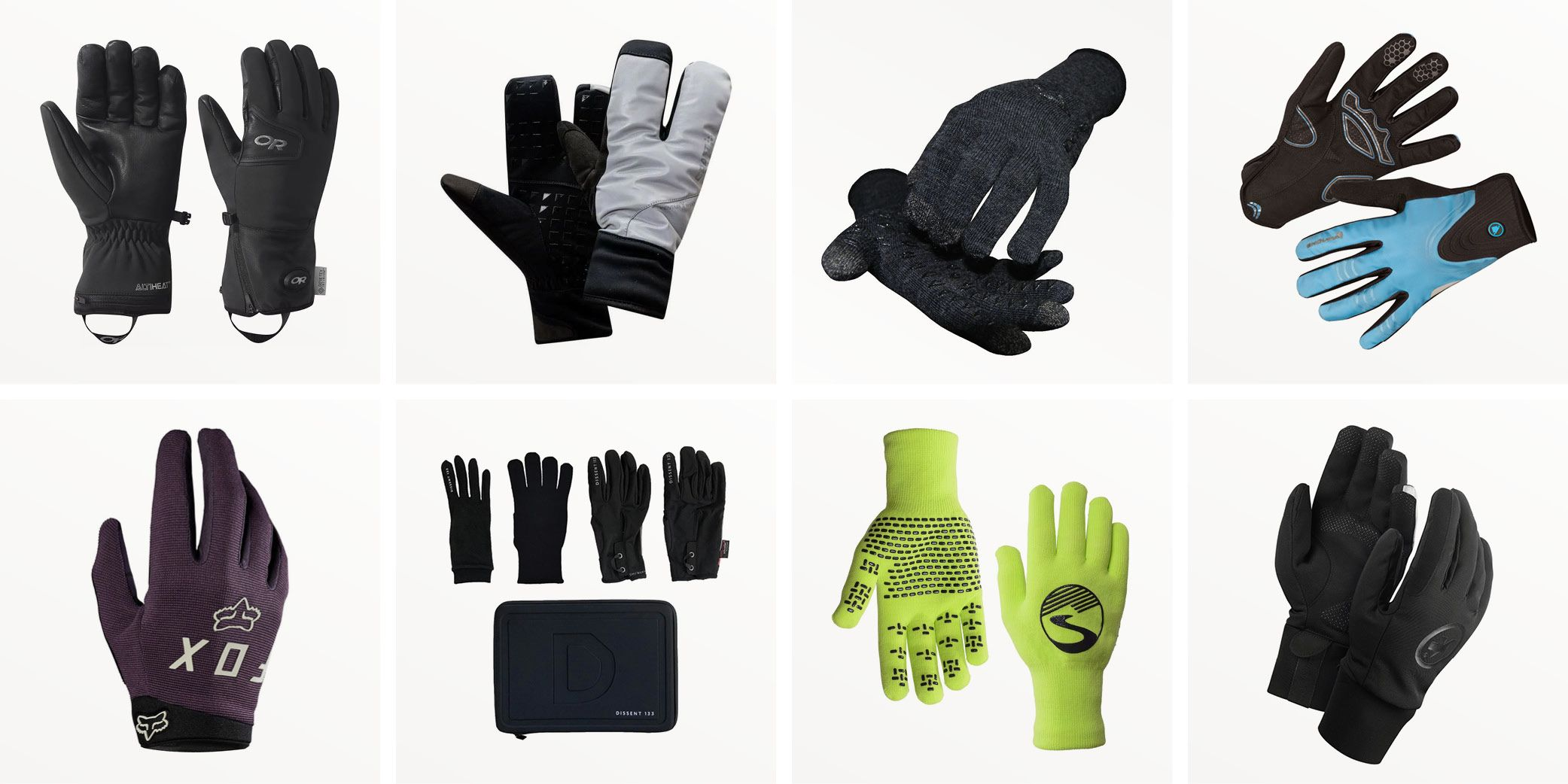 Cycling Running Exercise Wind and Water Resistant Winter Gloves Large