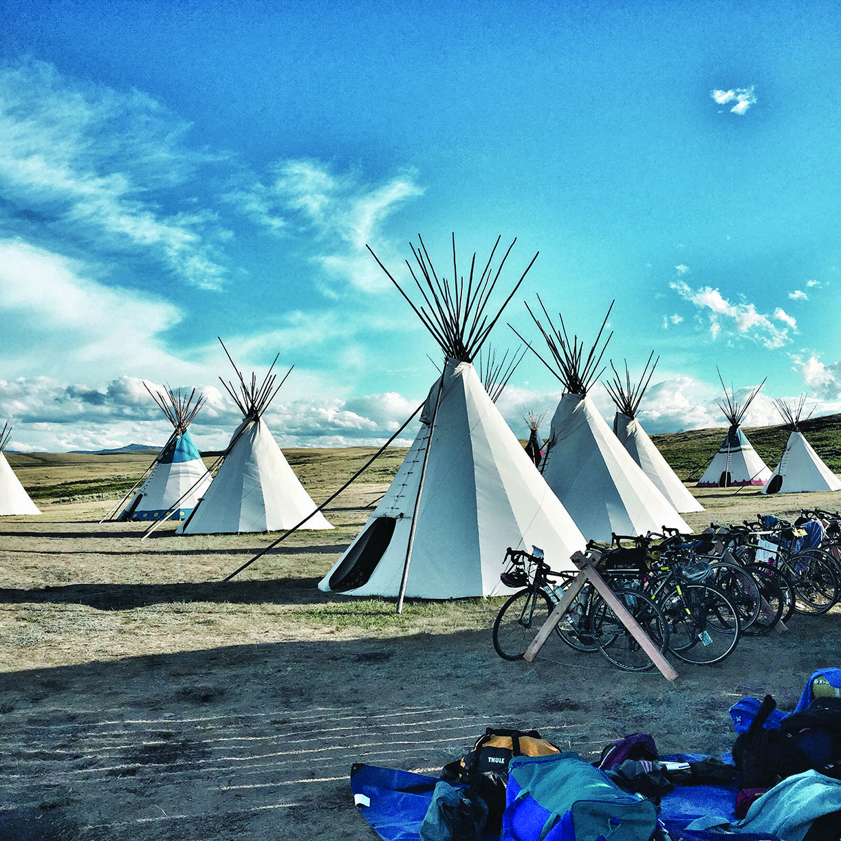 Climate Ride tipis