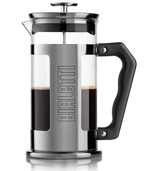 bialetti cd french press signature 350 ml, 1810 staal, zilver