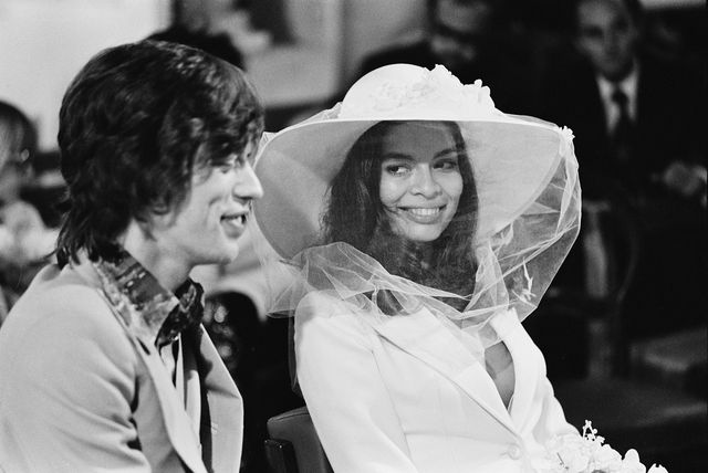 mick and bianca jagger at their wedding at the church of st anne, st tropez, 12th may 1971 photo by reg lancasterdaily expresshulton archivegetty images