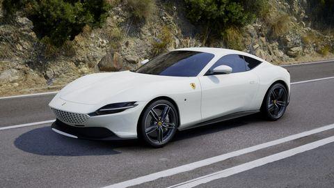 2020 Ferrari Roma in Bianco Avus