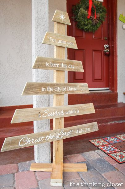 pallet christmas tree bible verse - Wood Pallet Christmas Tree