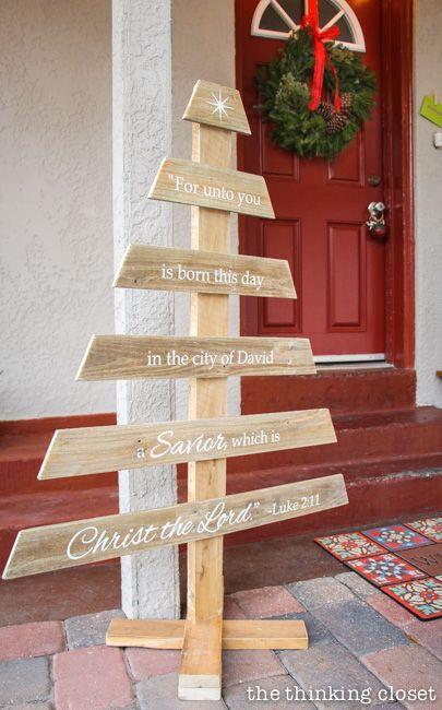 Pallet Christmas Tree Bible Verse