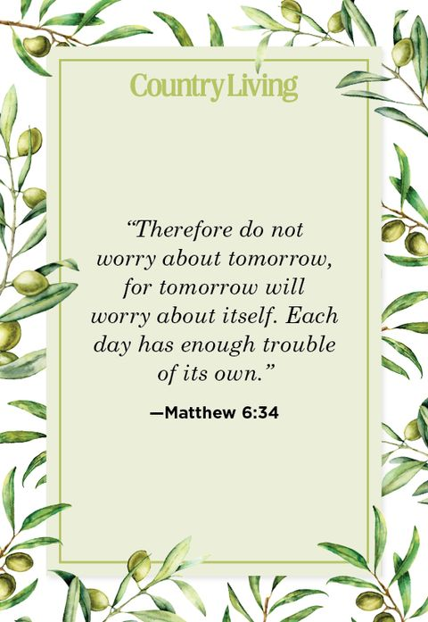 Quote from Matthew 6:34