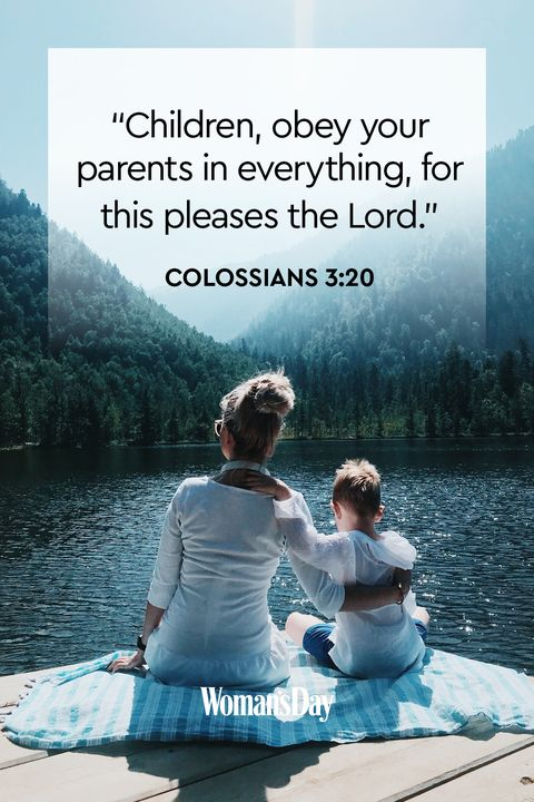 Bible Verses About Children Colossians 3:20