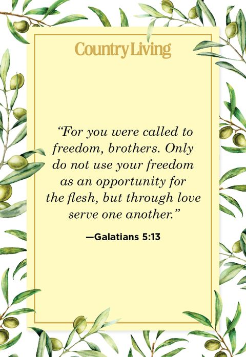 bible quote about freedom