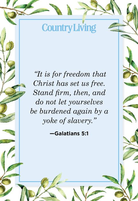 it is for freedom that christ has set us free stand firm, then, and do not let yourselves be burdened again by a yoke of slavery
