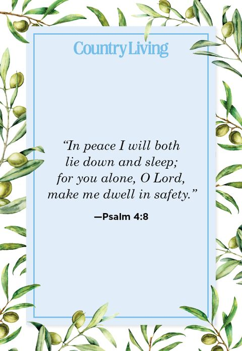 Quote from Psalm 4:8