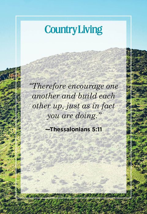 therefore encourage one another and build each other up just as in fact you are doing from thessalonians