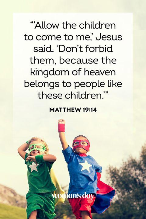 bible verses about children   matthew 1914