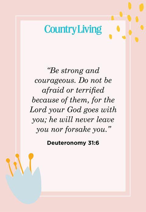 Quote from Deuteronomy 31:6