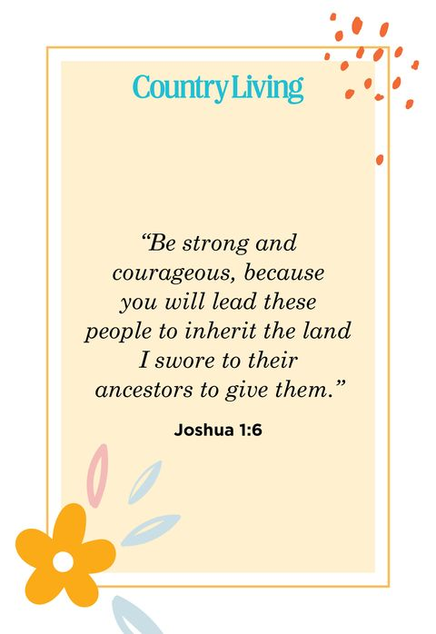 Quote from Joshua 1:6