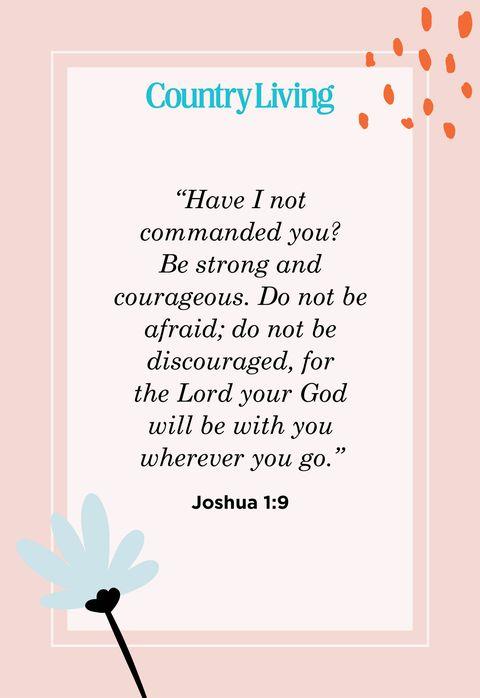 Quote fro Joshua 1:9