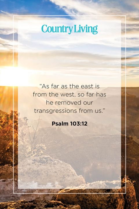 Quote from Psalm 103:12