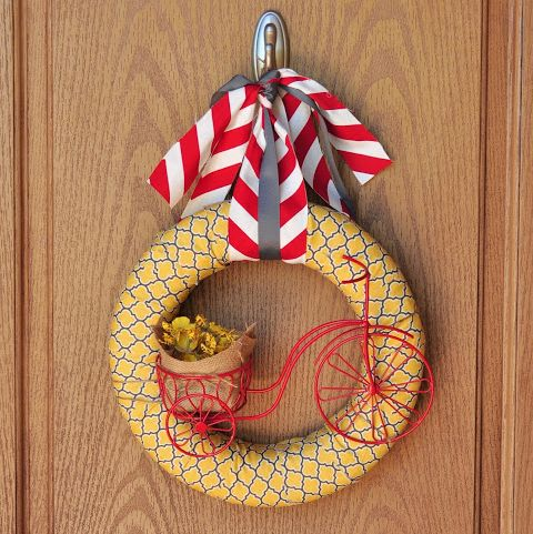 Bicycle Wreath - Summer Wreaths
