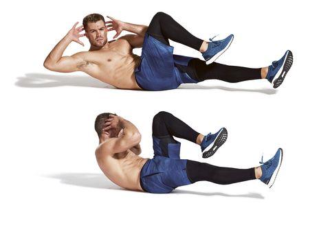 Leg, Arm, Abdomen, Muscle, Knee, Joint, Thigh, Trunk, Crunch, Human body,