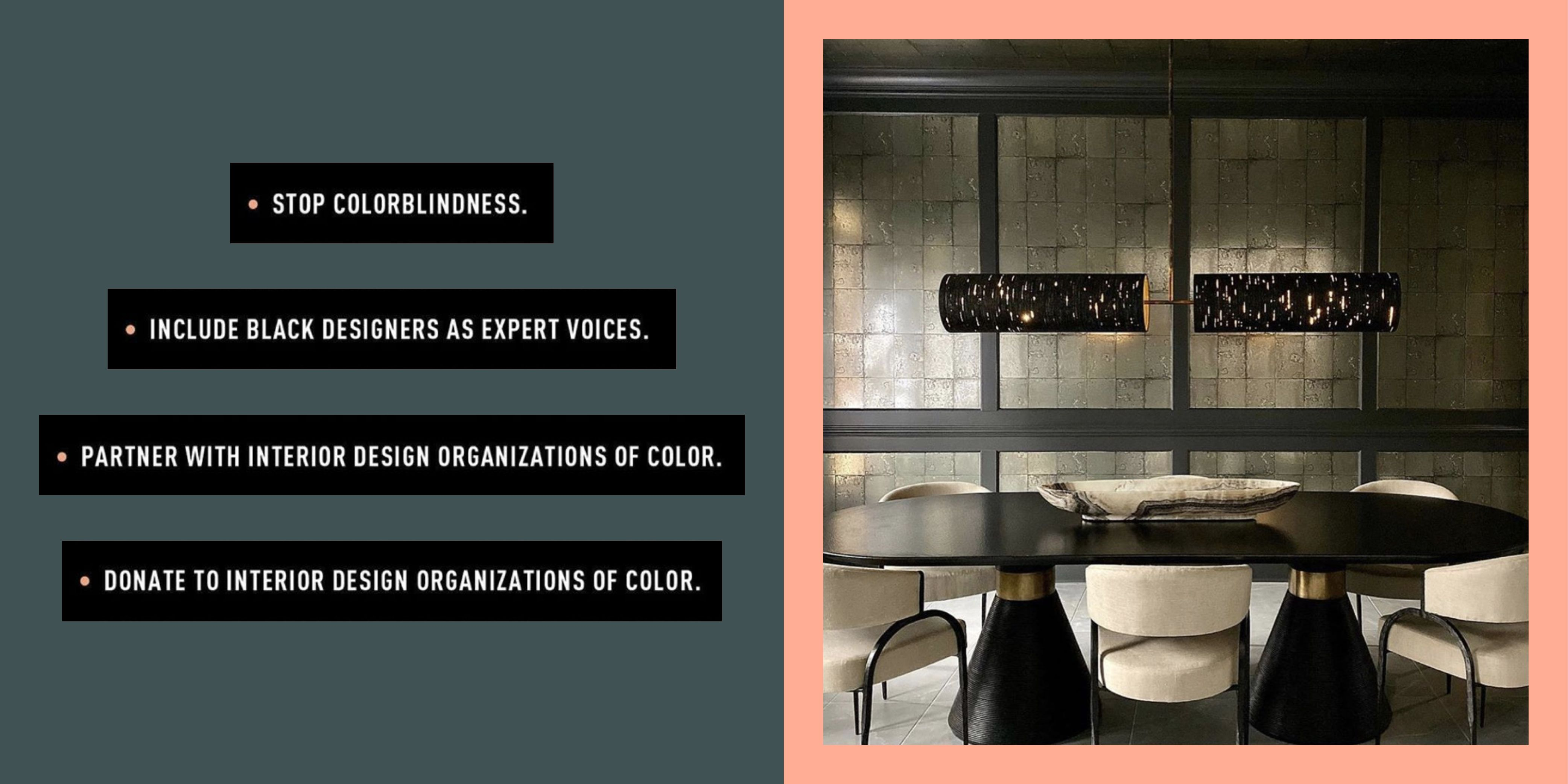 The Black Interior Designers Network Launches Campaign On How To Be An Ally