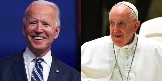 joe biden and pope francis side by side