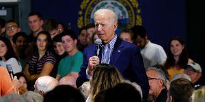 Former Vice President Joe Biden speaks during a campaign
