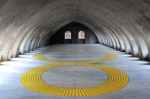 Tunnel, Line, Architecture, Infrastructure, Circle, Building, Symmetry, Arch,
