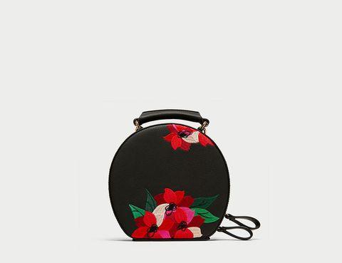 Red, Mason jar, Plant, Bag, Flower, Fashion accessory, Petal,