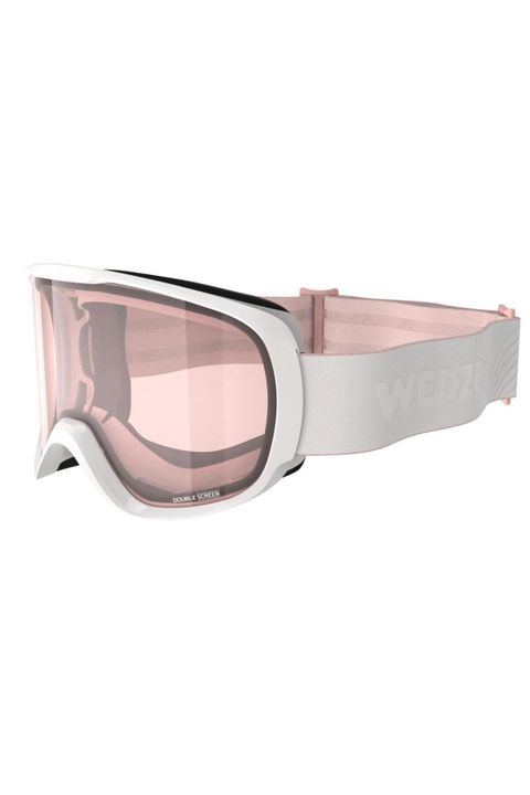 WOMEN'S SKI WEAR WED'ZE WOMEN AND GIRL'S SKIING AND SNOWBOARDING GOGGLES G 500 BAD WEATHER - WHITE